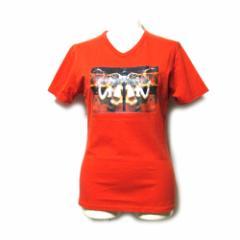 廃盤 Jean Paul GAULTIER ジャンポールゴルチエ「40」エスニックストレッチTシャツ (ゴルチェ オレンジ 半袖 Vネック) 102707