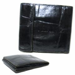 廃盤 JeanPaulGAULTIER ジャンポールゴルチエ クロコダイルレザーウォレット (ゴルチェ 黒 型押しレザー 革 皮 折財布) 103160