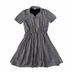 GLACIER  グレイシャー ギンガムチェックワンピース (黒 ドレス) 103198