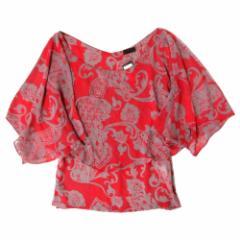 PROFILE プロフィール アロハ立体ドレープカットソー (ピンク Tシャツ) 103210