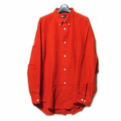 ISSEY MIYAKE イッセイ ミヤケ「L」ワイドシルエットデザインシャツ (赤 オレンジ) 103236