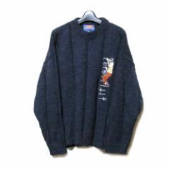 STUDIO AVENTURES スタジオ アバンチュール「M」タンタンの冒険ニットセーター (紺 ネイビー キャラクター) 103245