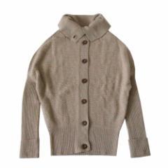 美品 Unaca アナカ「38」バルキリーニットカーディガン (キャメル セーター) 103443