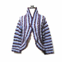 美品 tricot COMME des GARCONS トリコ コムデギャルソン 2005 エスニックニットカーディガン (鍵編み ) 103473