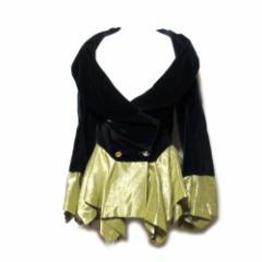 Vivienne Westwood ヴィヴィアンウエストウッド「42」イタリア製 ベルベットエリザベスジャケット (黒 90年代 ヴィンテージ) 103480