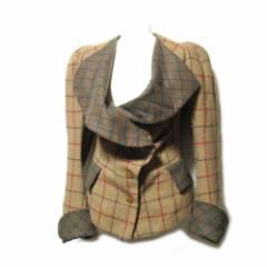 美品 Vivienne Westwood GOLD LABEL ヴィヴィアンウエストウッド 「10」英国製ハリスツイードエリザベスジャケット 103901