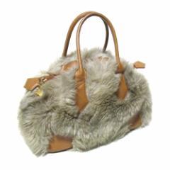 廃盤 Vivienne Westwood ヴィヴィアンウエストウッド イタリア製 ファーヤスミンバッグ (茶色 毛皮) 103905