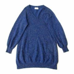 TSUMORI CHISATO ツモリチサト 立体ドレープニットワンピース (ブルー 青 ラメ) 103935