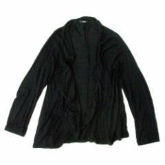 美品 MURUA ムルーア ドレープカーディガン (黒) 103941