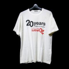 COMME des GARCONS HOMME コムデギャルソン オム 20周年限定ロゴTシャツ (白 半袖) 103985