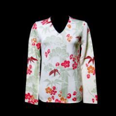 【新品】 COMME des GARCONS コムデギャルソン「S」2005 オリエンタルデザインVネックニットセーター (松竹梅) 103987