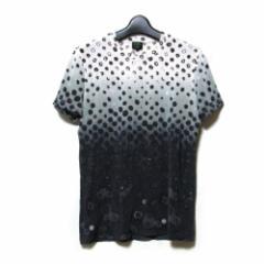 美品 Jean Paul GAULTIER HOMME ジャンポールゴルチエ オム「48」ストレッチドットTシャツ (半袖 水玉) 104292