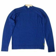 美品 Calvin Klein Jeans カルバンクライン ジーンズ「L」メリノウールニットセーター (青 ブルー) 104565