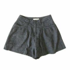 美品 LOWRYS FARM ローリーズファーム キュロットパンツ (グレー ツイード スカート) 104674