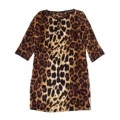 美品 ZARA ザラ レオパードワンピース (ドレス 豹柄) 104684