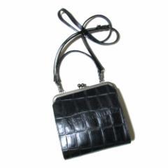 廃盤 JeanPaulGAULTIER ジャンポールゴルチエ 2way クロコダイルレザーハンドバッグ (黒 ショルダーバッグ 鞄 皮 革) 104736