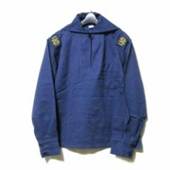 美品 Bulgaria military ブルガリア軍  セーラーシャツ ネイビー (ジャケット 実物 紺 ネイビー) 104743