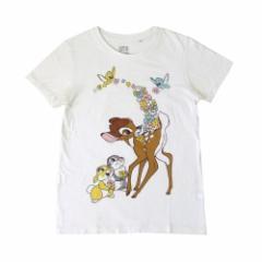 UT UNIQLO×Disney ユーティ ユニクロ×ディズニー「M」限定 バンビTシャツ (白) 105107