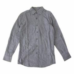 UNIQLO ユニクロ「S」ボタンダウンネルシャツ (グレー ) 105224