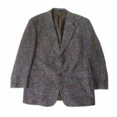 美品 ALFIT MEN アルフィット メン 2Bクラシックツイードジャケット (黒グレー ガーメントケース付) 105234