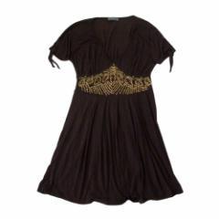 KRIZIA クリツィア「42」イタリア製 ビーズ装飾ワンピース (ドレス フォーマル まりか) 105244