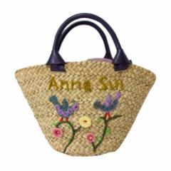 ANNA SUI アナスイ バスケット刺繍トートバッグ (籠 カゴ 鞄) 105291