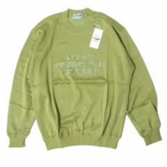 【新品】 クロコダイル CROCODILE「M」コットンニットセーター (グリーン トレーナー 刺繍) 105380