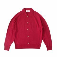 Dunedin ダニーデン イギリス製ニットセーター (英国製 カーディガン 赤) 105419