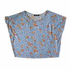 chambre de charme シャンブルドゥシャーム ビッグシルエットTシャツ (花柄 カットソー 半袖) 105640