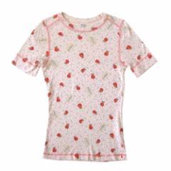 美品 HYSTERIC GLAMOUR ヒステリックグラマー トマトバードTシャツ (ピンク 半袖 ストレッチ) 105664