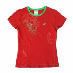 美品 NIKE ナイキ 和柄刺繍Tシャツ (赤 半袖) 105850