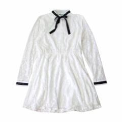 美品 DOWISI 韓流 韓国ブランド 総レースワンピース (白 フォーマル レース ドレス ゴスロリ) 105854