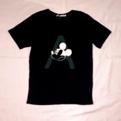 uu uniqlo×undercover  アンダーカバー ユニクロ  アナーキーミッキーマウスTシャツ (限定 コラボレーション 黒) 105951