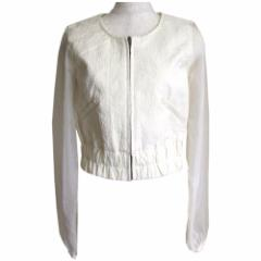 【新品】 rienda リエンダ セットアップスーツ (白 ショートパンツ キュロットスカート 袖シースルー) 106441
