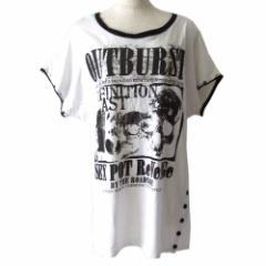 SEX POT ReVeNGe セックスポット リベンジ  パンクデザインTシャツ (白 半袖 ゴスロリ ユニセックス) 106658