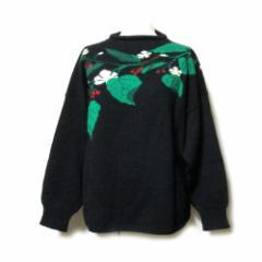 Vintage KENZO ヴィンテージ ケンゾー ジャポネスクニットセーター (黒色 高田賢三 花柄) 106696