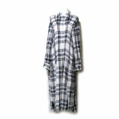 robe de chambre COMME des GARCONS ローブドシャンブル コムデギャルソン  1994 タータンチェックワイドロングワンピース 107163