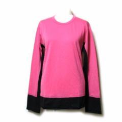 robe de chambre COMME des GARCONS ローブドシャンブル コムデギャルソン  2000 ドッキングニットセーター (黒 ピンク) 107165