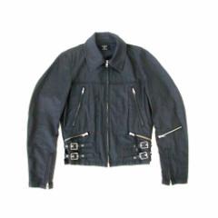 美品 ZUCCA ズッカ シングルライダースジャケット (黒 CABANE de カバンド ブルゾン) 107192