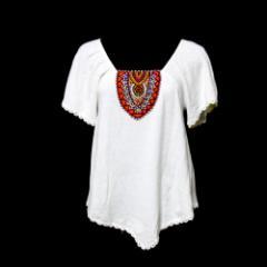 DOLLY GIRL by ANNA SUI ドーリーガール バイ アナスイ「2」ビーズ装飾カットソー (白 半袖) 107242