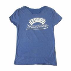 IZREEL Faker イズリール フェイカー ヴィンテージ ドッキングTシャツ (ブルー 青 半袖) 107327