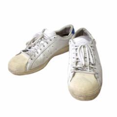 adidas アディダス「29.5」テニスレザースニーカー (白 青 革 皮 TENNIS) 107350
