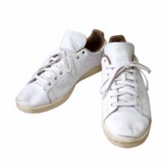adidas アディダス「30.0」スタンスミスレザースニーカー (白 キャメル 革 皮 ) 107351