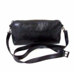 難有 [SALE] 廃盤 PATRICK COX パトリックコックス モノグラムレザーショルダーバッグ (黒 皮 革 鞄) 108104