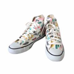 【新品】 CONVERSE コンバース 限定カーモノグラクオールスタースニーカー ハイカット (白 靴 シューズ) 108814