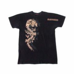 ALGONQUINS アルゴンキン ドラゴンTシャツ (龍 黒 半袖 ゴスロリ パンク) 108823