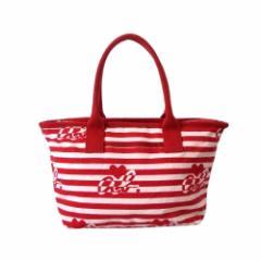 【新品】 agnes b. アニエスベー チャーム付ボーダーバッグ (赤 白 鞄) 108832