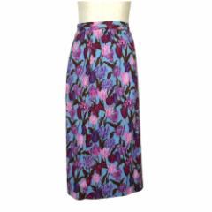 Vintage ヴィンテージ 昭和レトロ フラワーモノグラムスカート (花柄 ) 108842