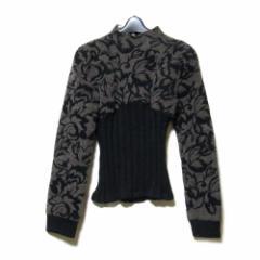 20471120  トゥーオーフォーセブンワンワントゥーオー「♂M」フロッキーデザインジャケット (黒 トライベンティ) 108946