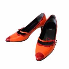 ANNA SUI アナスイ レザーヒールパンプス (シューズ 靴 皮 革) 109218